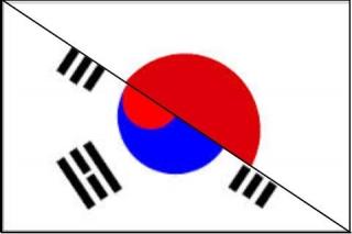 韓国 日本 Flag