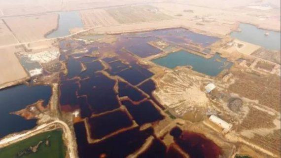 """【画像3枚・中国】工業廃水の巨大な""""ため池""""見つかる、中国の一大国家事業「雄安新区」からわずか数十キロ"""