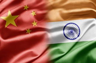 インド 中国 Flag